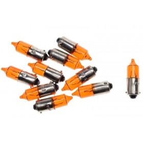 Žiarovky 12V 23W BA9S mini - oranžové 10ks
