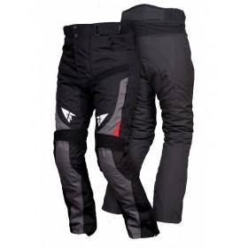 L&J STM002 pánske textílne nohavice čierno-červené