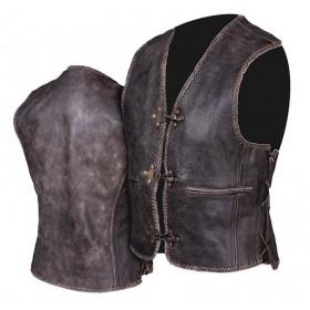 L&J KM011 OLD AMERICA pánska kožená vesta