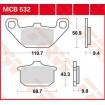 MCB532 TRW brzdové doštičky KAWASAKI  EN 500, GPZ 750-900, VN1500