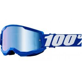 100 PERCENT STRATA 2 BLUE - MIRROR BLUE LENS motokrosové okuliare