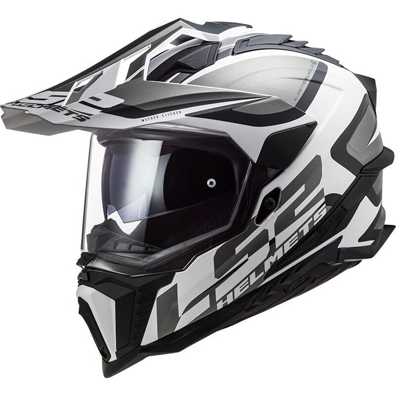 Prilba LS2 MX701 EXPLORER ALTER matt black white