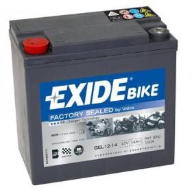 GEL12-14 12V 14Ah 150A EXIDE gélový akumulátor pre motocykle