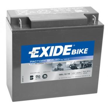 GEL12-16 12V 16Ah 100A EXIDE gélový akumulátor pre motocykle