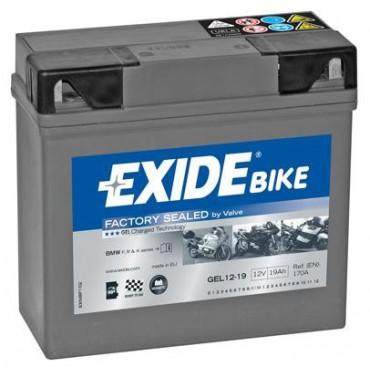 GEL12-19 12V 19Ah 170A EXIDE gélový akumulátor pre motocykle