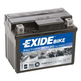 EXIDE BIKE AGM 12-4 12V 3Ah 50A