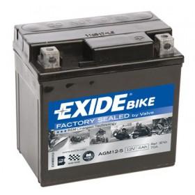 AGM12-5 12V 5Ah 70A EXIDE akumulátor pre motocykle