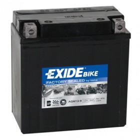 AGM12-9 12V 9Ah 190A EXIDE akumulátor pre motocykle