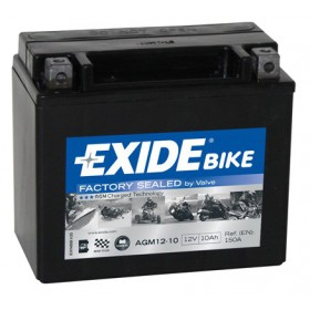 AGM12-10 12V 10Ah 180A EXIDE akumulátor pre motocykle
