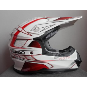 Prilba ISPIDO STORM MX white red