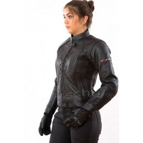 TSCHUL 838 black dámska kožená bunda