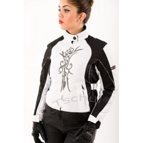 TSCHUL 5602 black-white dámska bunda