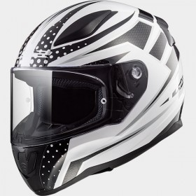 Prilba LS2 FF353 RAPID CARBORACE white black