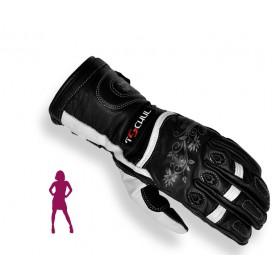 Tschul 301 dámske kožené rukavice čierno-biele