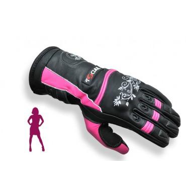 Tschul 301 dámske kožené rukavice pink