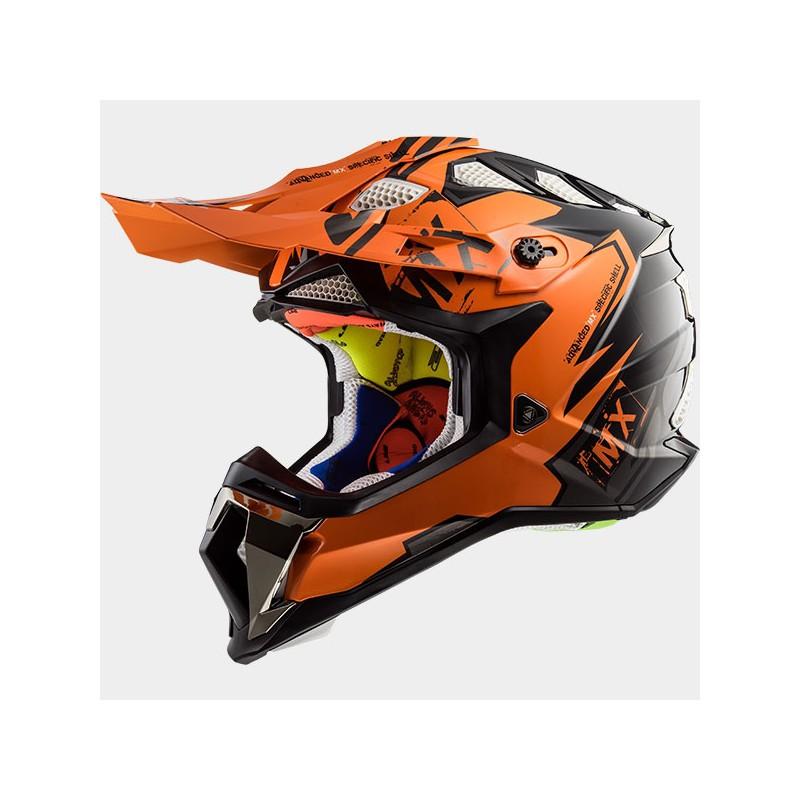 Prilba LS2 MX470 SUBVERTER EMPEROR black-orange