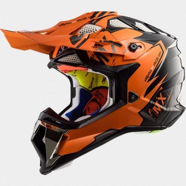 Prilba LS2 MX470 SUBVERTER EMPEROR orange