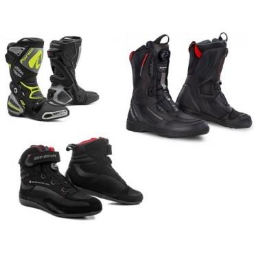 Čižmy, obuv na motorku