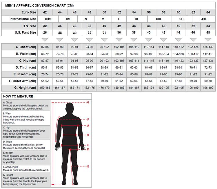 5819b7061e85c Zipsy YKK; Veľkostná tabuľka oblečenia ALPINESTARS